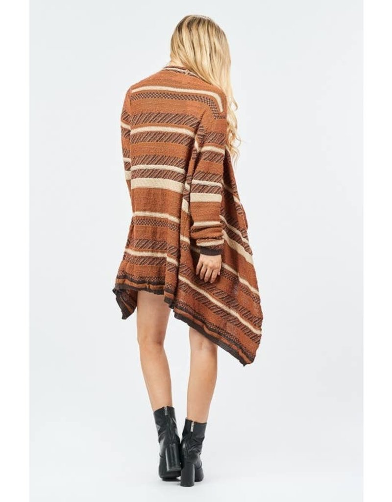 Loveriche Camel Striped Cardigan