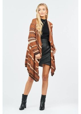 Loveriche Camel Striped Cardigan