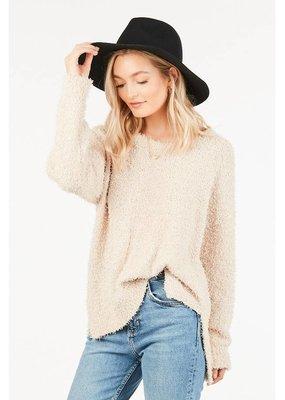 Loveriche Cream Fuzzy Sweater
