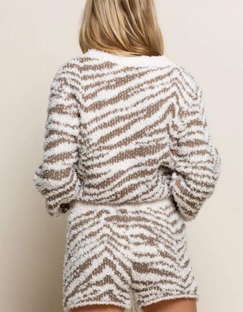 Pol Clothing Cozy Zebra Shorts