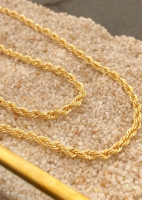 Harper Made Rope Chain Necklace - Gold