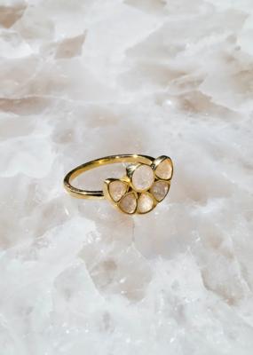Native Gem Casablanca Ring - 6 Moonstone