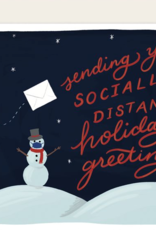 Slightly Stationery Socially Distant Holiday Greetings Card