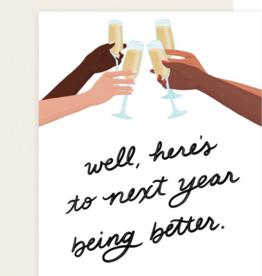 Slightly Stationery To Next Year Card