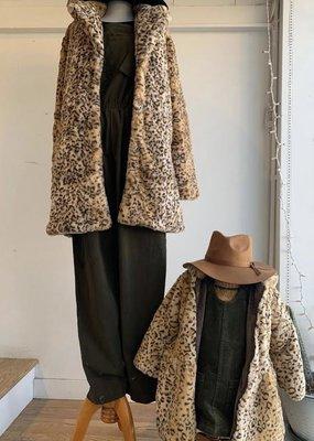 Midnight Rambler Notched Collar Coat - Leopard