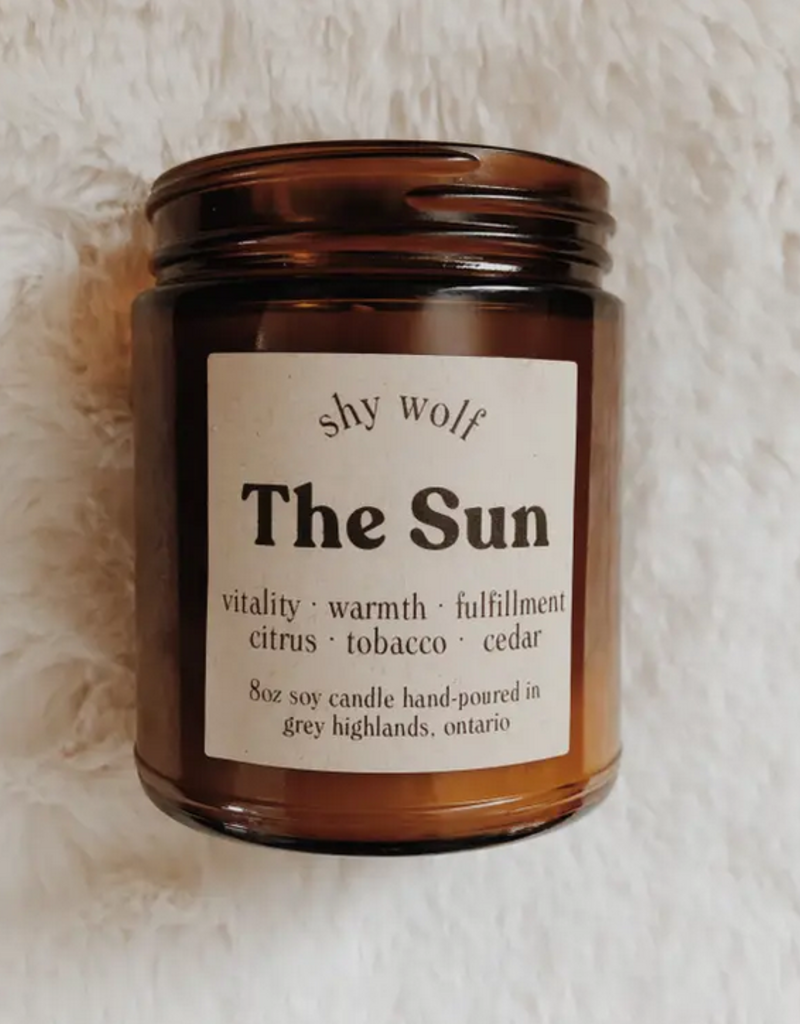 Shy Wolf Candles The Sun Candle