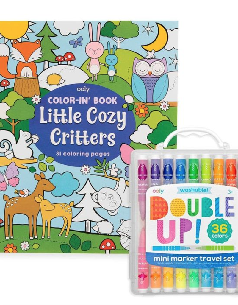 OOLY Double Up & Cozy Critters Coloring Pack