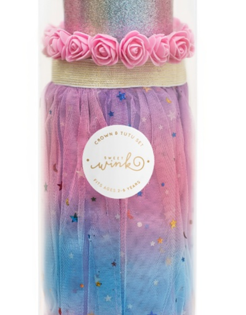 Sweet Wink Cotton Candy Crown and Tutu