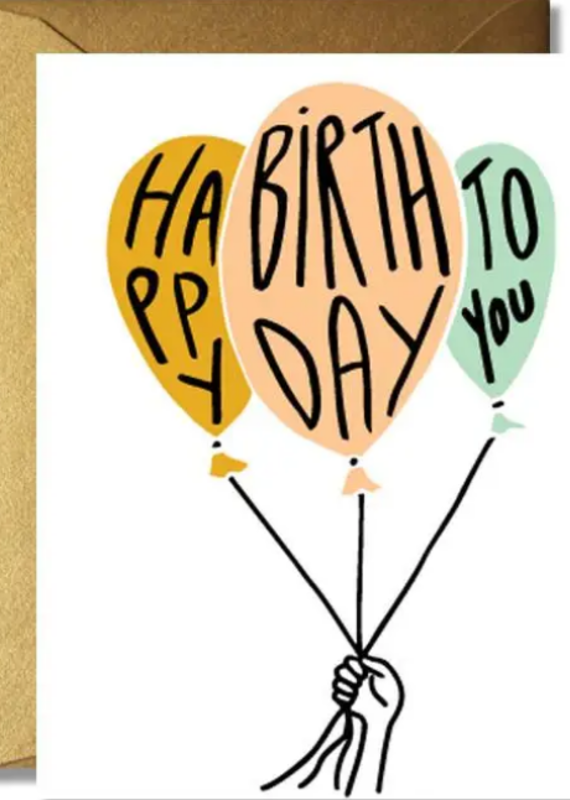 The Rainbow Vision Happy Birthday Balloon Card