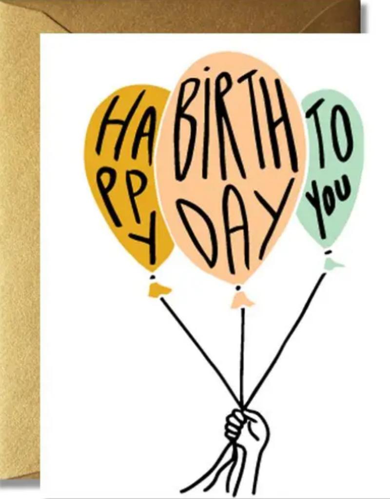 The Rainbow Vision Happy Birthday Balloon Card