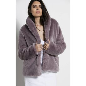 Stone Row Stone Row Fauxreals Coat Steel
