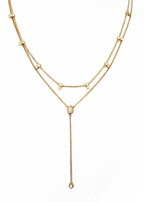 Elizabeth Stone Elizabeth Stone Double Tear Drop Layered Necklace