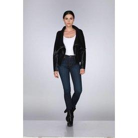 Rebecca Elliot Rebecca Elliot Black Collar Ribbed Jacket