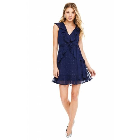 ASTR Brynn Dress Navy Sparkle