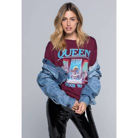 Daydreamer Daydreamer Queen Tour 80 Tee Burgundy