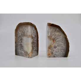 Bungalow Design Geode Agate Bookends
