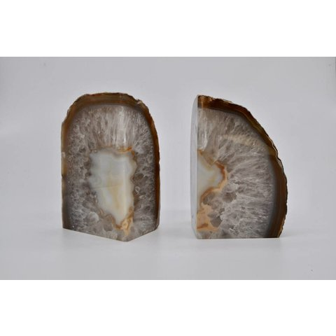 Geode Agate Bookends