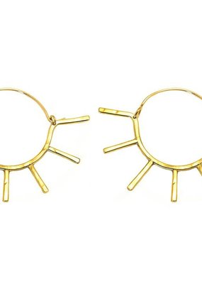 Paradigm Design Sunny Hoops Gold Fill