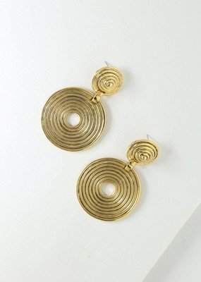 Vanessa Mooney Braxton Earring Gold