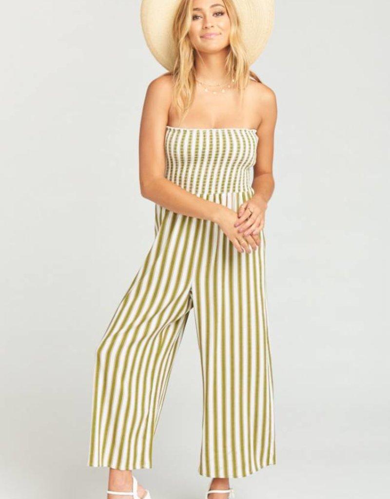 Show Me Your Mumu Parton Striped Playsuit