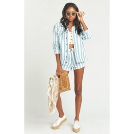 Show Me Your Mumu drine striped jean jacket
