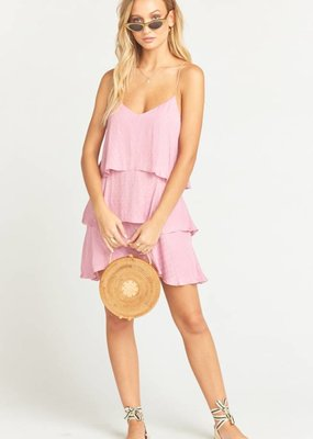 Show Me Your Mumu suarez ruffle dress pink
