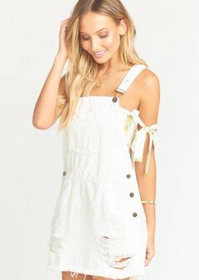 Show Me Your Mumu Georgia Overalls Dress White