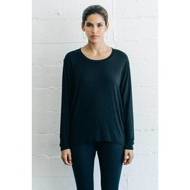Joah Brown Essential Long Sleeve Crew Black