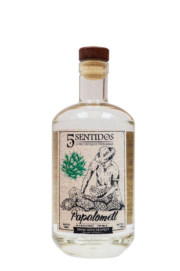 Cinco Sentidos Mezcal Papalometl 44.3% abv (750 ml)