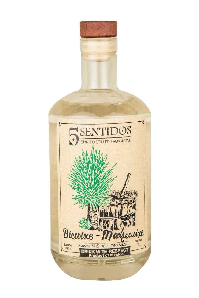 Cinco Sentidos Mezcal Bicuixe-Madrecuixe 48.2% abv (750 ml)