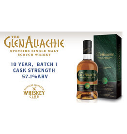 GlenAllachie 10 yr Batch 1 Cask Strength 57.1% PRE-SALE (750ml)
