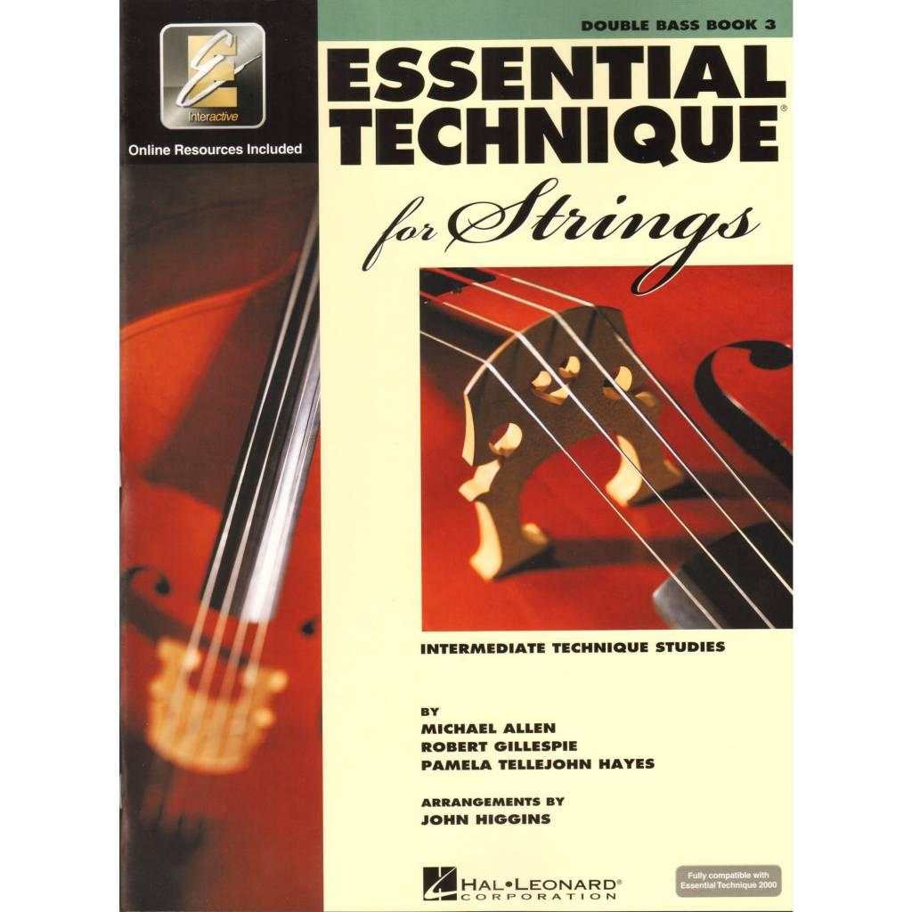 Hal Leonard Essential Technique Double Bass Book 3