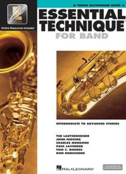 Hal Leonard Essential Technique Bb Tenor Sax Book 3