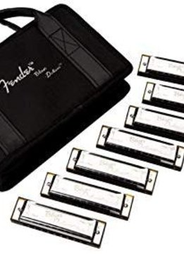 Fender Fender®  Blues Deluxe Harmonica, Pack of 7, with Case