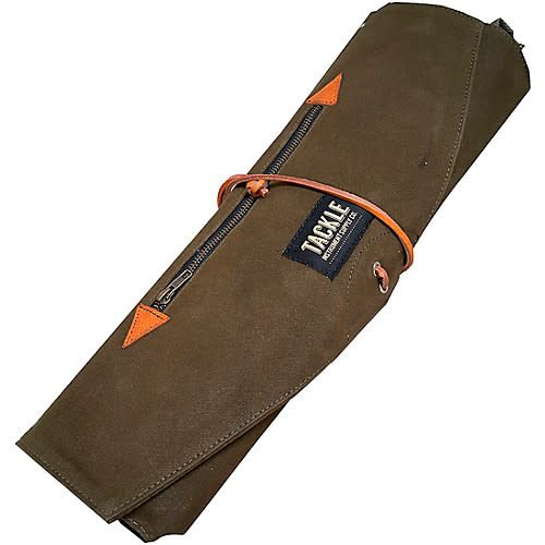 Tackle Instrument Supply Co Tackle Waxed Canvas Roll-Up Stick Bag - Forest Green
