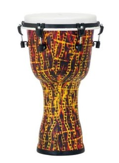 "Pearl Pearl 10"" Top Tuned Djembe, Tribal Fire"