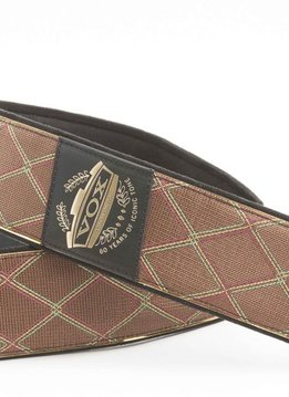 VOX 60th Anniversary Strap with Diamond Pattern & Gold Engraved  Leather Patch