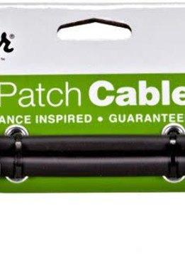 "Fender Fender Performance 2pk 6"" Patch Cable, Black"