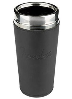 Fender FenderTM Travel Mug, Leather Black