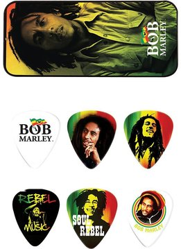 Dunlop Dunlop Bob Marley Silver Pick Tin, Medium