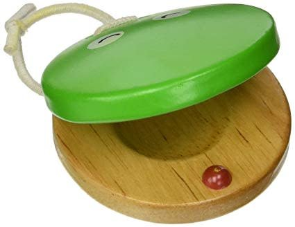 Green Tone Wood Frog Castanet Finger