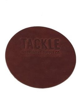 Tackle Instrument Supply Co Tackle Small Leather Bass Drum Beater Patch - Mahogany