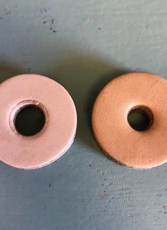 Tackle Instrument Supply Co Tackle Leather Cymbal Washers - Saddle Tan