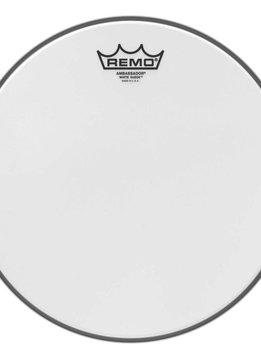 """Remo Remo 12"""" Ambassador White Suede"""
