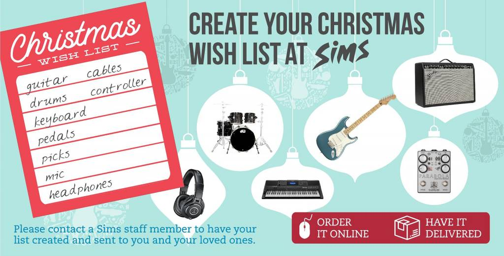 Create your Christmas Wish List at Sims!
