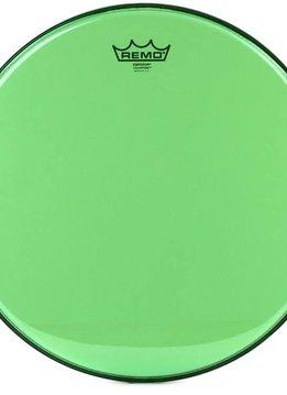 """Remo Remo 16"""" Emperor Clear Colortone, Green"""