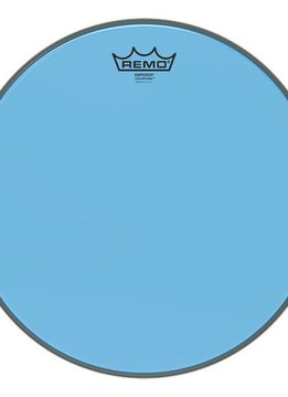 "Remo Remo 12"" Emperor Clear Colortone, Blue"