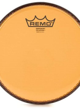 "Remo Remo 12"" Emperor Clear Colortone, Orange"