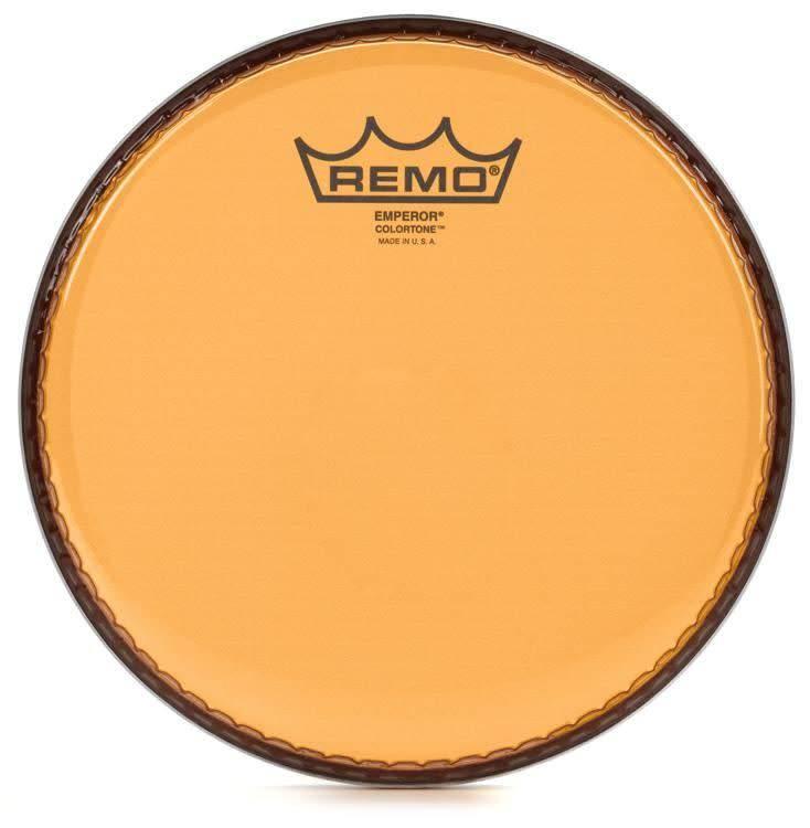 """Remo Remo 12"""" Emperor Clear Colortone, Orange"""