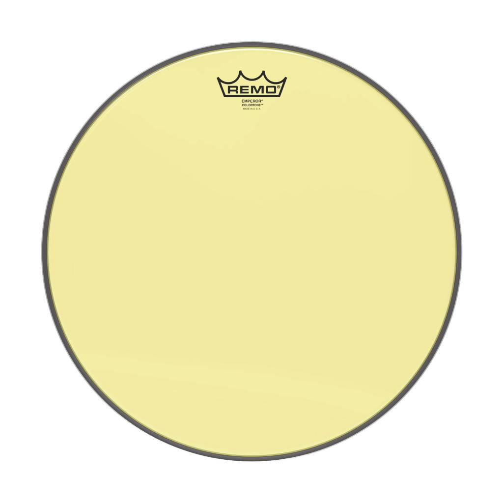 "Remo Remo 12"" Emperor Clear Colortone, Yellow"